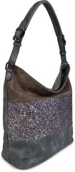 styleBREAKER edle 2-farbige Hobo Bag Handtasche mit Pailletten Streifen, Shopper, Schultertasche, Tasche, Damen 02012181 – Bild 17