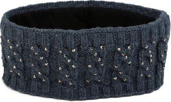 styleBREAKER Stirnband mit Zopfmuster und Strass, weiches Fleece Innenfutter, Haarband, Headband, Damen 04026001 – Bild 2