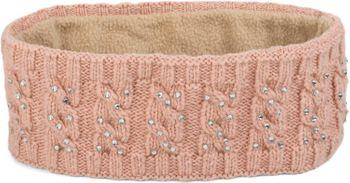 styleBREAKER Stirnband mit Zopfmuster und Strass, weiches Fleece Innenfutter, Haarband, Headband, Damen 04026001 – Bild 3