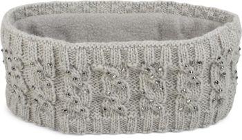 styleBREAKER Stirnband mit Zopfmuster und Strass, weiches Fleece Innenfutter, Haarband, Headband, Damen 04026001 – Bild 6