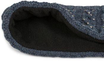 styleBREAKER Stirnband mit Zopfmuster und Strass, weiches Fleece Innenfutter, Haarband, Headband, Damen 04026001 – Bild 8