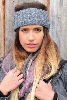 styleBREAKER Stirnband mit Zopfmuster und Strass, weiches Fleece Innenfutter, Haarband, Headband, Damen 04026001 – Bild 19