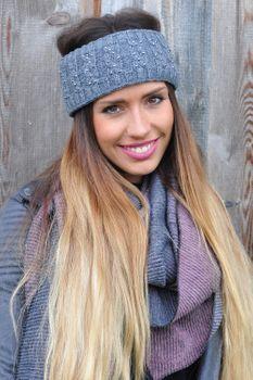 styleBREAKER Stirnband mit Zopfmuster und Strass, weiches Fleece Innenfutter, Haarband, Headband, Damen 04026001 – Bild 20