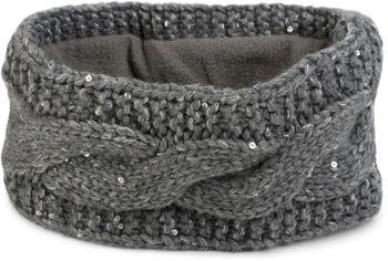 styleBREAKER Damen Stirnband Grobstrick mit Zopfmuster und Pailletten, warmes Fleece Innenfutter, Haarband, Headband 04026002 – Bild 3