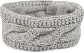 styleBREAKER Damen Stirnband Grobstrick mit Zopfmuster und Pailletten, warmes Fleece Innenfutter, Haarband, Headband 04026002 – Bild 5