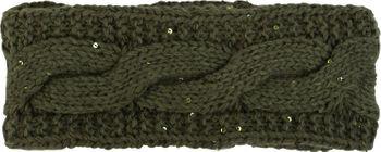 styleBREAKER Stirnband Grobstrick mit Zopfmuster und Pailletten, warmes Fleece Innenfutter, Haarband, Headband, Damen 04026002 – Bild 18
