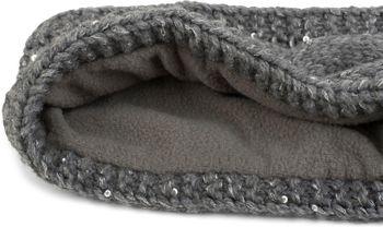 styleBREAKER Stirnband Grobstrick mit Zopfmuster und Pailletten, warmes Fleece Innenfutter, Haarband, Headband, Damen 04026002 – Bild 9