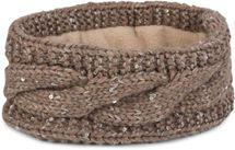 styleBREAKER Damen Stirnband Grobstrick mit Zopfmuster und Pailletten, warmes Fleece Innenfutter, Haarband, Headband 04026002 – Bild 19