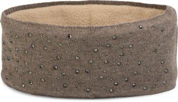 styleBREAKER Stirnband Feinstrick mit Strass Nieten Applikation und weichem Fleece Innenfutter, Haarband, Headband, Damen 04026003 – Bild 1