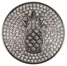 styleBREAKER runder Magnet Schmuck Anhänger mit Strass besetzter Ananas für Schals, Tücher oder Ponchos, Damen 05050051 – Bild 1
