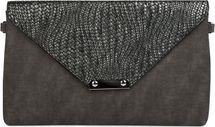 styleBREAKER Envelope Clutch Tasche mit Flecht Optik am Umschlag, Handschlaufe, Umhängegurt, Abendtasche, Damen 02012184 – Bild 1