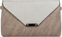 styleBREAKER Envelope Clutch Tasche mit Flecht Optik am Umschlag, Handschlaufe, Umhängegurt, Abendtasche, Damen 02012184 – Bild 6