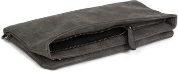 styleBREAKER Fold-Over-Clutch in Wildlederoptik mit Überschlag, 3-in-1 Tasche, Schulterriemen, Trageschlaufe, Schultertasche, Damen 02012190 – Bild 11