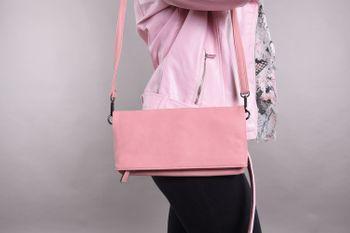 styleBREAKER Fold-Over-Clutch in Wildlederoptik mit Überschlag, 3-in-1 Tasche, Schulterriemen, Trageschlaufe, Schultertasche, Damen 02012190 – Bild 20
