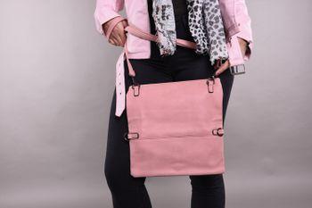 styleBREAKER Fold-Over-Clutch in Wildlederoptik mit Überschlag, 3-in-1 Tasche, Schulterriemen, Trageschlaufe, Schultertasche, Damen 02012190 – Bild 21