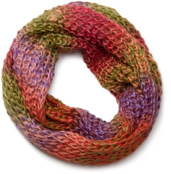styleBREAKER high quality colorful chunky knit loop tube scarf in soft and fluffy quality, multicolor 01018127 – Bild 5