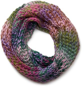 styleBREAKER high quality colorful chunky knit loop tube scarf in soft and fluffy quality, multicolor 01018127 – Bild 2