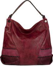 styleBREAKER Shopper Tasche mit Nieten und weichem Ornament Muster, Schultertasche, Umhängetasche, Damen 02012197 – Bild 5