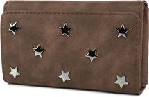styleBREAKER weiche Geldbörse mit Stern Nieten Applikationen, Druckknopf Verschluss, Portemonnaie, Damen 02040087 – Bild 2