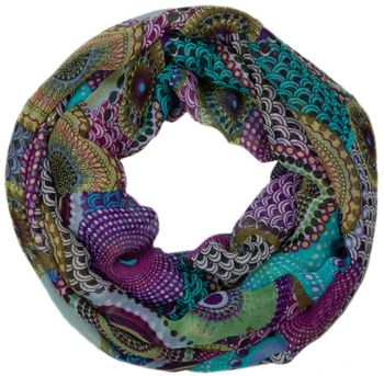 styleBREAKER ethno points African style loop tube scarf 01016014 – Bild 3
