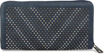 styleBREAKER Geldbörse mit Nieten in V-Optik, 2-Tone Nieten, umlaufender Reißverschluss, Portemonnaie, Damen 02040084 – Bild 1