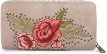 styleBREAKER Geldbörse mit Rosen Blüten Blätter und Nieten, umlaufender Reißverschluss, Portemonnaie, Damen 02040086 – Bild 5