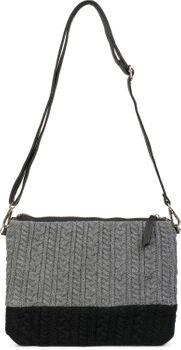 styleBREAKER Clutch Tasche mit Zopfmuster, abnehmbarer Schultergurt und Handschlaufe, Schultertasche, Abendtasche, Damen 02012202 – Bild 3