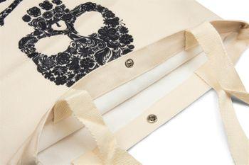 styleBREAKER Stofftasche mit Totenkopf Aufdruck, Druckknopf Verschluss, Tragetasche, Einkaufstasche, Tasche, Unisex 02012194 – Bild 6