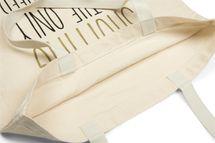 styleBREAKER Statement Einkaufstasche 'SHOPPING IS THE ONLY SPORT I NEED' Aufdruck, Tragetasche, Stofftasche, Tasche, Unisex 02012204 – Bild 3