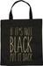 styleBREAKER Statemente Einkaufstasche 'IF IT´S NOT BLACK PUT IT BACK' Aufdruck, Tragetasche, Stofftasche, Tasche, Unisex 02012207