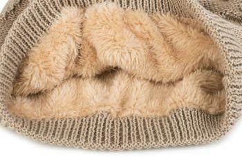 styleBREAKER warme Feinstrick Beanie Mütze mit Sterne, Fleece Innenfutter, Slouch Longbeanie, Winter, Unisex 04024121 – Bild 20