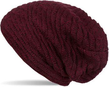 styleBREAKER warme Feinstrick Beanie Mütze mit Wellen Strickmuster, Fleece Innenfutter, Slouch Longbeanie, Unisex 04024122 – Bild 6