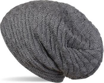 styleBREAKER warme Feinstrick Beanie Mütze mit Wellen Strickmuster, Fleece Innenfutter, Slouch Longbeanie, Unisex 04024122 – Bild 1