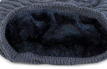 styleBREAKER warme Feinstrick Beanie Mütze mit Wellen Strickmuster, Fleece Innenfutter, Slouch Longbeanie, Unisex 04024122 – Bild 18