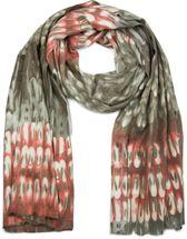 styleBREAKER weicher Schal mit Schuppen Muster und Fransen, Winter Strickschal, Tuch, Damen 01017057 – Bild 3