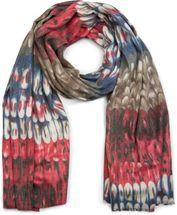 styleBREAKER weicher Schal mit Schuppen Muster und Fransen, Winter Strickschal, Tuch, Damen 01017057 – Bild 4