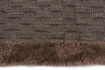 styleBREAKER warmer Feinstrick Loop Schal mit Flecht Muster und sehr weichem Fleece Innenfutter, Schlauchschal, Unisex 01018150 – Bild 14
