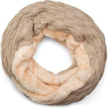 styleBREAKER warmer Feinstrick Loop Schal mit Flecht Muster und sehr weichem Fleece Innenfutter, Schlauchschal, Unisex 01018150 – Bild 9