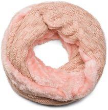 styleBREAKER warmer Feinstrick Loop Schal mit Flecht Muster und sehr weichem Fleece Innenfutter, Schlauchschal, Unisex 01018150 – Bild 8