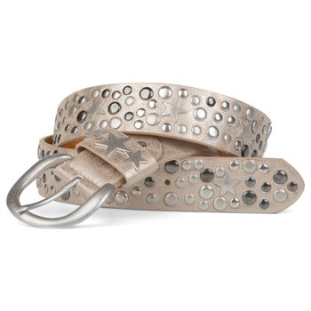 styleBREAKER studded belt with stars in vintage style with genuine leather, shortened 03010010 – Bild 3