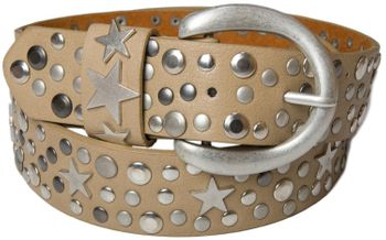 styleBREAKER studded belt with stars in vintage style with genuine leather, shortened 03010010 – Bild 12
