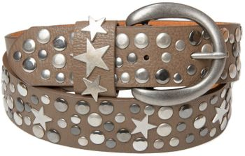 styleBREAKER studded belt with stars in vintage style with genuine leather, shortened 03010010 – Bild 13