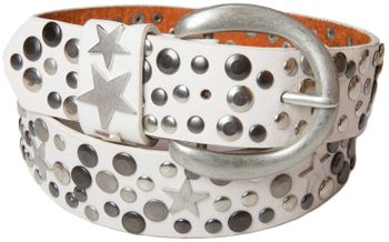 styleBREAKER studded belt with stars in vintage style with genuine leather, shortened 03010010 – Bild 14