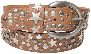 styleBREAKER studded belt with stars in vintage style with genuine leather, shortened 03010010 – Bild 18
