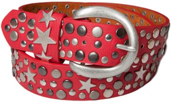 styleBREAKER studded belt with stars in vintage style with genuine leather, shortened 03010010 – Bild 21
