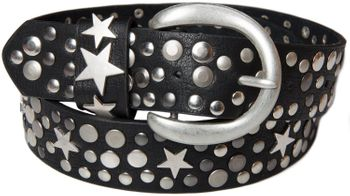styleBREAKER studded belt with stars in vintage style with genuine leather, shortened 03010010 – Bild 22