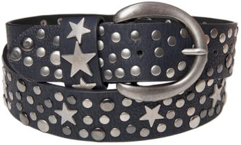 styleBREAKER studded belt with stars in vintage style with genuine leather, shortened 03010010 – Bild 9