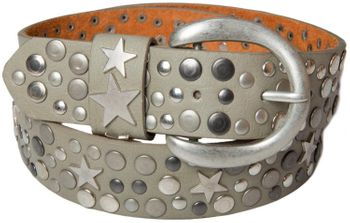 styleBREAKER studded belt with stars in vintage style with genuine leather, shortened 03010010 – Bild 10