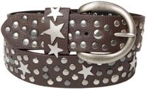 styleBREAKER studded belt with stars in vintage style with genuine leather, shortened 03010010 – Bild 16