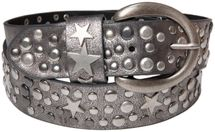 styleBREAKER studded belt with stars in vintage style with genuine leather, shortened 03010010 – Bild 23